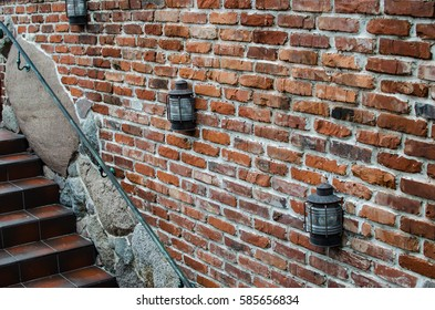 vintage wall with brick