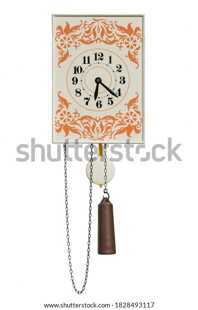 vintage-wall-pendulum-clock-kettlebell-6
