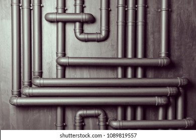 Vintage wall texture background with plastic pipes for design and creativity.Texture pattern abstract background can be use as wall paper screen saver brochure cover and presentati