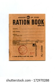 A vintage wartime rationing book from 1944-45.