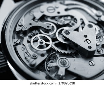 vintage watch machinery macro detail monochrome  selective focus