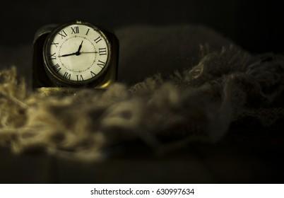 Vintage Watch on Burlap