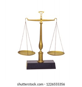 Vintage weathered weighing scale, old libra isolated on a white background