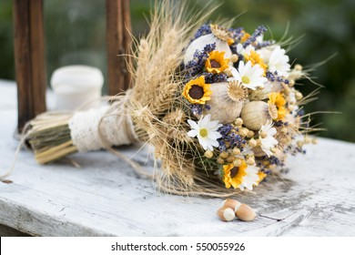 Dried poppy flower images stock photos vectors shutterstock vintage wedding bouquet of dry flowers lavender poppy head and sunflowers vintage wedding bouquet mightylinksfo Gallery