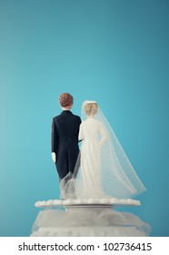 Vintage Wedding Cake Dolls