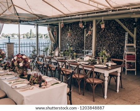 Vintage Wedding Decor Beautiful Event Venue Stock Photo Edit Now