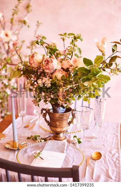 Vintage Wedding Decor Beautiful Event Venue Stock Photo (Edit Now ...