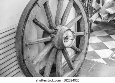 Vintage Wheel   in Black and White