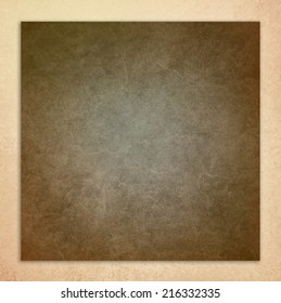 vintage white background, brown leather layer illustration on beige frame with distressed aged texture design