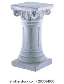 Vintage White Column Isolated