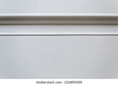 Vintage white door, closeup