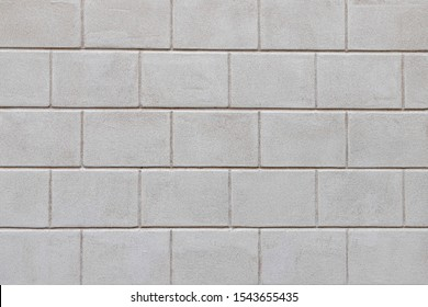 Vintage white grey brick background, Abstract geometric pattern texture, Outdoor building block wall, Can be used as background for display or montage your products.