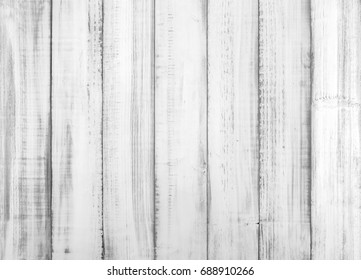 Vintage white wood texture for decoration and background