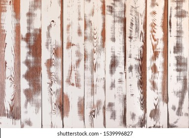 Vintage white wooden planks texture. Shabby chic background for food photography. Light wood table, top view. Rustic wooden wall texture. Old natural wooden pattern.Washed wood texture.