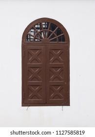 vintage window isolate background