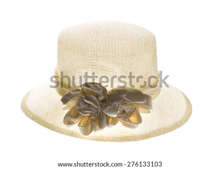cad542607b8aa Vintage Woman Hat Woman Beach Hat Stock Photo (Edit Now) 276133103 ...