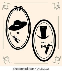 vintage woman's  hat