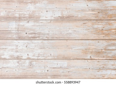 Vintage wood background, planks in white brown beige country style texture.