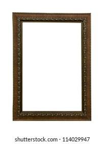 Vintage wood picture frame