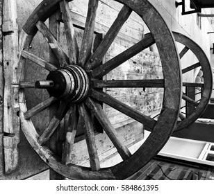 Vintage Wood Wheel.