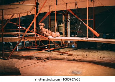 Vintage wooden airplane from the 1900s