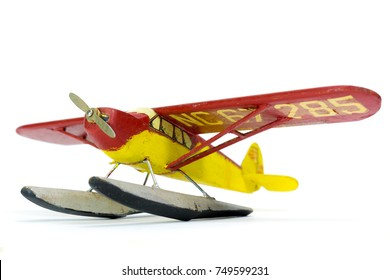 Vintage Wooden Airplane Built From A Model Kit
