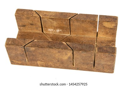 Vintage Wooden Carpentry Tool - Mitre Block