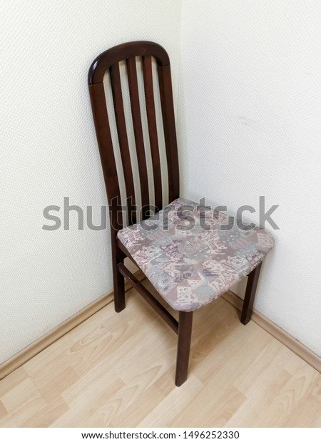 Vintage Wooden Chair High Back Corner Stock Photo Edit Now