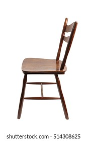 Vintage Wooden Chair. Isolated with clipping path.