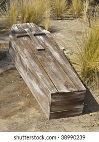Vintage Wooden Coffin