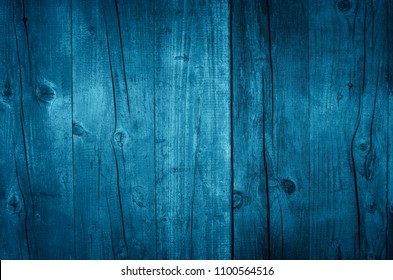 Vintage wooden dark blue boards. Front view with copy space. Background for design.