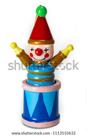 vintage wooden jack in the box clown christmas ornament perfect as a stand alone photo - Jack In The Box Open On Christmas