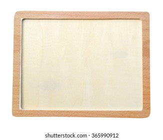 Vintage wooden picture frame wooden board background (clipping path)