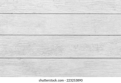 Vintage wooden planks floor background, close up, black and white