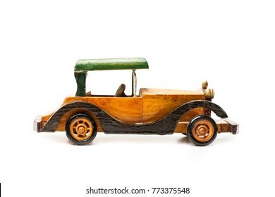 Vintage wooden toy car