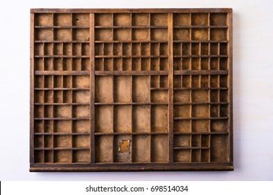 Vintage wooden type case