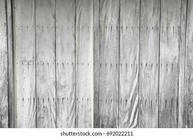 Vintage wooden wall background. Black and white picture. 2