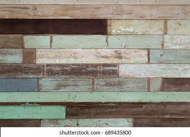 Vintage wooden wall in horizontal view - background