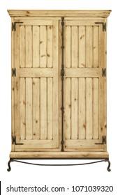 Vintage wooden wardrobe