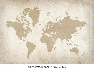 Imágenes Fotos De Stock Y Vectores Sobre Vintage World Map