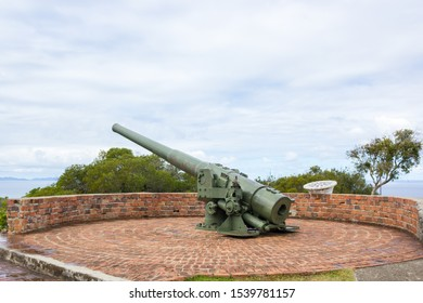 Vintage World War II Breach Loading Mk VII 6-inch Coastal Defense Gun on Ouen Toro in New Caledonia
