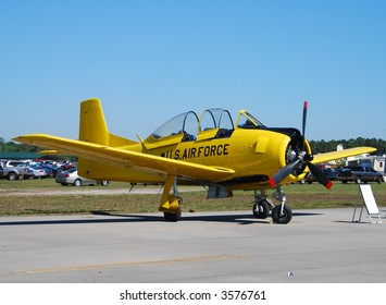 Vintage yellow airplane