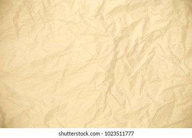 Vintage Yellowed Blank Crushed Paper Background