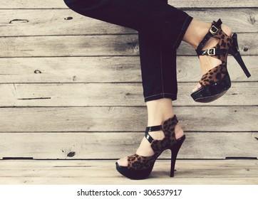 Vintage,Women wearing high heels
