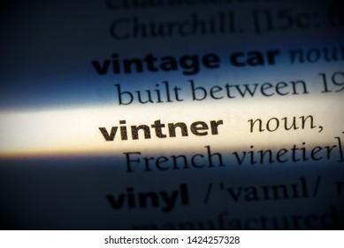 vintner word in a dictionary. vintner concept, definition.