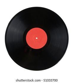 Vinyl disc isolated on white