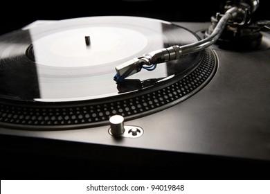 Vinyl disk player in backlight