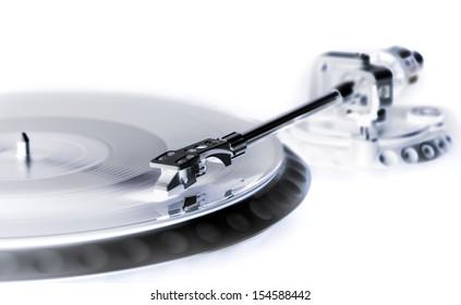 vinyl laying on a record player - nightclubbing, dj etc. - x-ray style