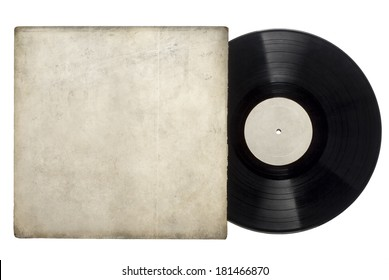 Vinyl Long Play Record with sleeve on a white background.
