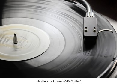 Vinyl LP on a turntable.